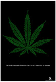 Street Terms For Marijuana Text Poster Posters