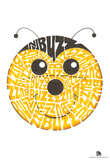 Bee Buzz Text Poster Posters