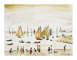 Yachts, 1959 Premium Giclee Print by Laurence Stephen Lowry
