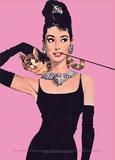 Audrey Hepburn (Pink) Posters