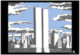 World Trade Center Names Memorial Text Poster Plakater