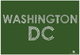 Washington DC Neighborhoods Text Poster Posters