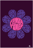 Flower Power Text Poster Poster