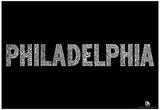 Philadelphia Neighborhoods Text Poster Affiche