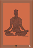 Yoga Sutras of Patanjali Book 1 Text Poster Affiche