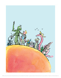 James and the Giant Peach Prints by Quentin Blake