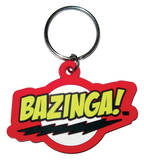 The Big Bang Theory - Bazinga  Rubber Keychain Keychain