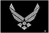 Air Force Logo Wild Blue Yonder Lyrics Poster Affiches