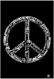 Peace 77 Languages Text Poster Prints