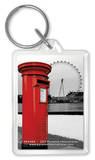 London Red Letterbox Acrylic Keychain Keychain
