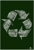 Recycle Text Poster Prints
