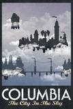 Columbia Retro Travel Poster Print
