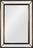 Antique Gold Rectangular Mirror Wall Mirror by Jonathan Wilner Paul De Bellefeuille