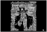 Uncle Sam American Wars Text Poster Prints