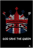Kings and Queens of Great Britain Text Poster Prints