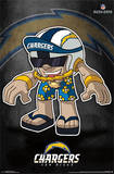 San Diego Chargers - Rusher Mascot NFL Sports Poster Prints
