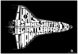 Space Shuttle One Small Step Text Poster Prints