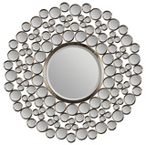 Satin Nickel Bubble Mirror Wall Mirror by Jonathan Wilner Paul De Bellefeuille