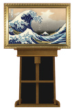 Great Wave by Hokusai on Museum Easel Fine Art Lifesize Standup Cardboard Cutouts by Katsushika Hokusai