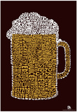 Beer Drinking Text Poster Print