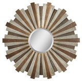 Perth Bronze and Copper Circular Mirror Wall Mirror by Jonathan Wilner