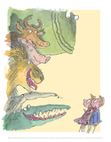 Dirty Beasts Poster by Quentin Blake