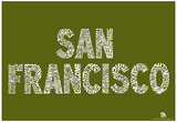 San Francisco Neighborhoods Text Poster Posters