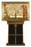 Tree of Life by Gustav Klimt on Museum Easel Fine Art Lifesize Standup Cardboard Cutouts by Gustav Klimpt