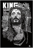 Jesus Names Text Poster - Poster