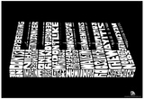 Piano Song Names Text Poster Poster