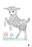 Baa Baa Black Sheep Text Poster Prints