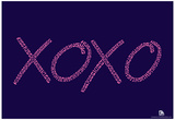 Hugs and Kisses Purple Text Poster Posters