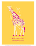 WWF Rothschild's Giraffe - Animal Tails Prints by Annette D'Oyly