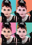 Audrey Hepburn (Pop Art) - Reprodüksiyon