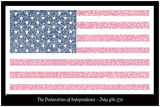 American Flag Declaration of Independence Text Poster Prints