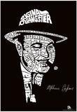 Al Capone Text Poster Plakát