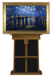 Starry Night Over the Rhone by Van Gogh on Museum Easel Fine Art Lifesize Standup Poster Stand Up