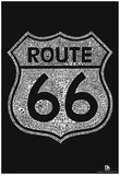Route 66 Towns Text Poster Prints