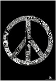 Peace Love Music Text Poster Photo