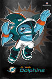Miami Dolphins Rusher NFL Sports Poster Posters