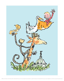 The Giraffe and the Pelly and Me Print by Quentin Blake
