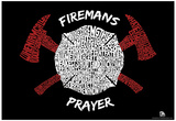 Fireman's Prayer Text Poster Poster
