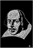 Shakespeare Plays Text Poster - Reprodüksiyon