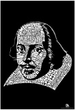 Shakespeare Plays Text Poster Láminas