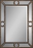 Silver Leaf Rectangular Mirror Wall Mirror by Jonathan Wilner Paul De Bellefeuille