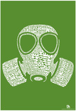 Fart Names Gas Mask Text Poster Print