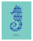 WWF Spiny Seahorse - Animal Tails Print by Annette D'Oyly