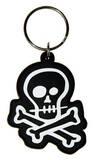 Skull N' Bones Rubber Keychain Keychain