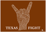 Texas Fight Song (Orange) Text Poster Posters