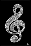 Music Note Composer Names Text Poster Prints